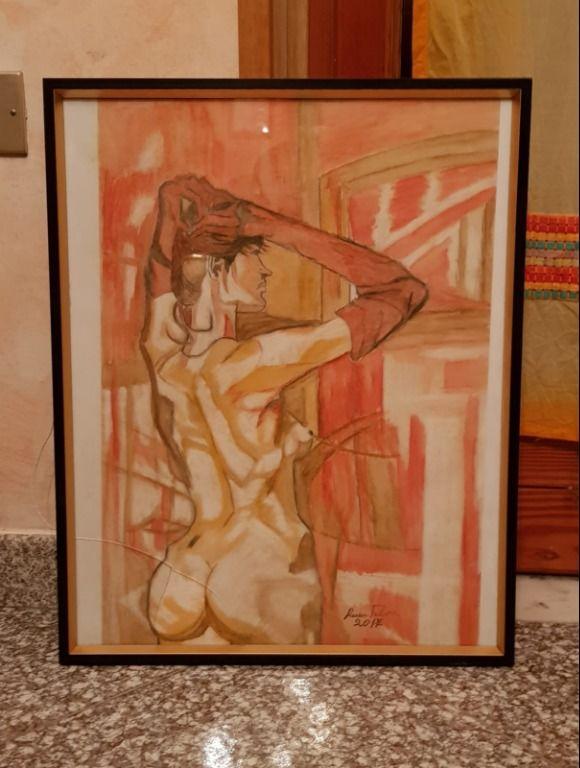 Baazr - Dipinto Donna allo specchio pezzo unico