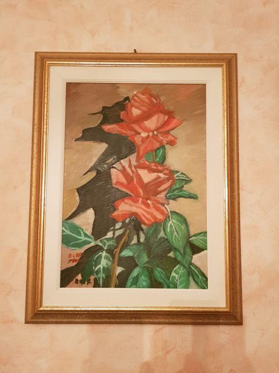 Baazr - Dipinto olio su tela Composizione di Rose