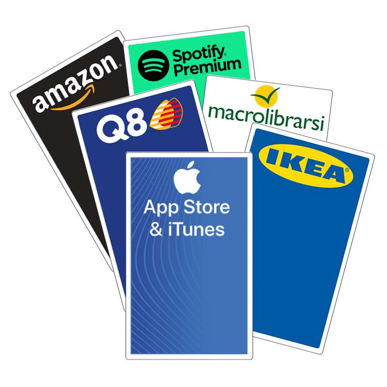 Buono a scelta da 30€: Amazon, Q8, Spotify, Macrolibrarsi, Ikea, iTunes | Asta online sicura e affidabile su Baazr