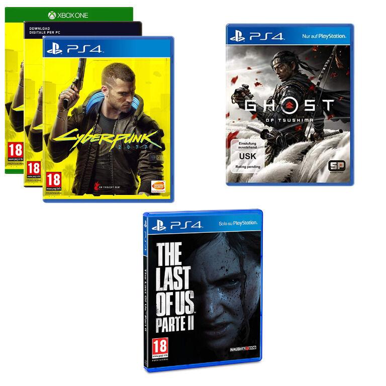 Videogioco a scelta: Ghost Of Tsushima - The Last Of Us 2 o Cyberpunk 2077 | Asta online sicura e affidabile su Baazr