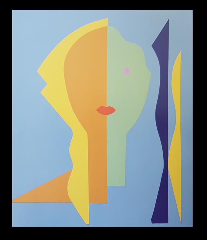 Baazr - CLAPS - Clara - Collage su Tela