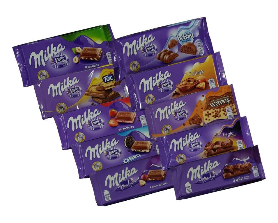 Baazr - 10 Cioccolate  Milka assortite