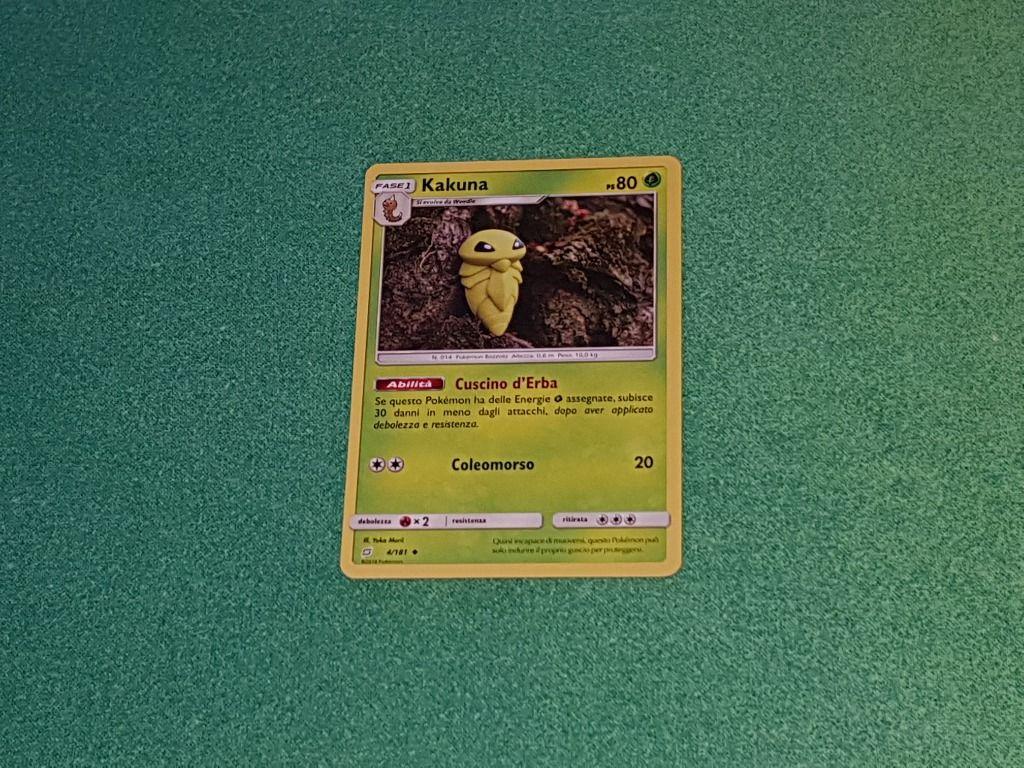 Baazr - kakuna 4/181 non Comune - Pokemon Sole Luna Gioco di Squadra - Carta in italiano