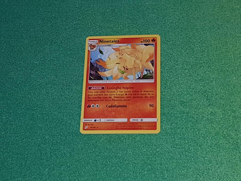 Baazr - Ninetales 16/181 Rara  - Pokemon Sole Luna Gioco di Squadra - Carta in italiano