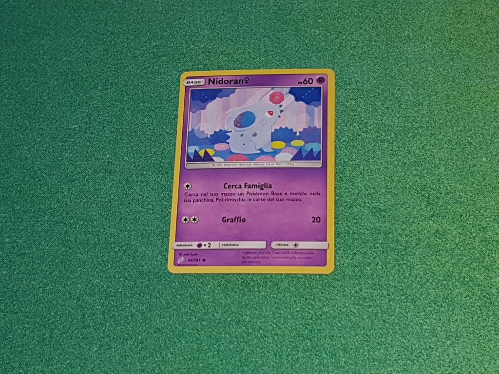 Baazr - Nidoran 54/181 Comune - Pokemon Sole Luna Gioco di Squadra - Carta in italiano