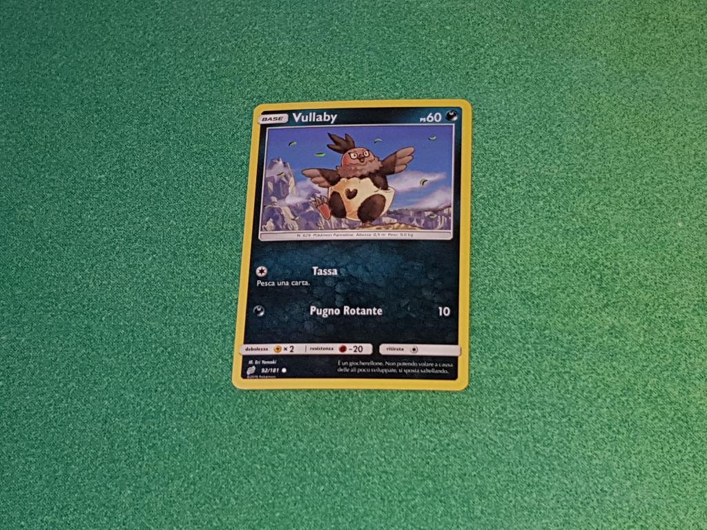 Baazr - Vullaby 92/181 Comune - Pokemon Sole Luna Gioco di Squadra - Carta in italiano