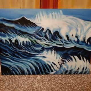 Baazr - Dipinto olio su tela Oceano in Tempesta