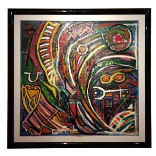 Baazr - ARPA - Vortice della Mente - Dipinto Olio su Tela