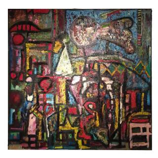 Baazr - ARPA - Visioni Oniriche Personali 1 - Dipinto Olio su Tela