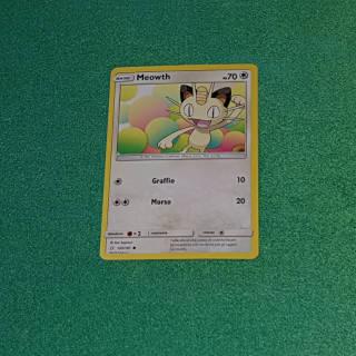 Baazr - Meowth 125/181 Comune - Pokemon Sole Luna Gioco di Squadra - Carta in italiano