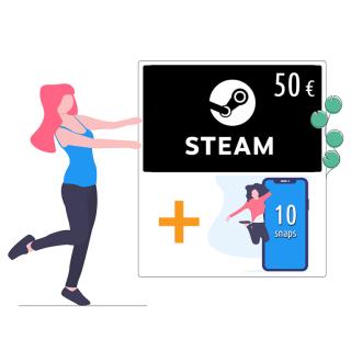 Baazr - Steam card da 50 € + 10 snaps