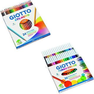 Giotto Stilnovo pastelli colorati & Giotto Turbo Color pennarelli, colori assortiti | Asta online sicura su Baazr