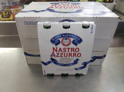 Baazr - Cassa di Nastro Azzurro 24 bottiglie  da 33cl