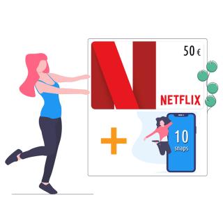 Ricarica NETFLIX da 50 euro + 10 Snaps | Asta online sicura e affidabile su Baazr