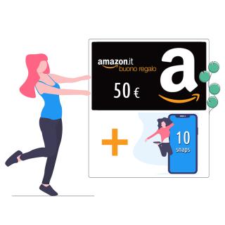 Buono Amazon 50€ + 10 snaps!   Asta online sicura e affidabile su Baazr