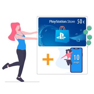 PlayStation Network Card da 50 €  + 10 snaps   Asta online sicura e affidabile su Baazr
