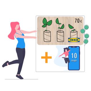 Buono Ikea 70€ + 10 snaps!   Asta online sicura e affidabile su Baazr