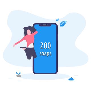 Ricarica da 200 snaps | Asta online sicura e affidabile su Baazr