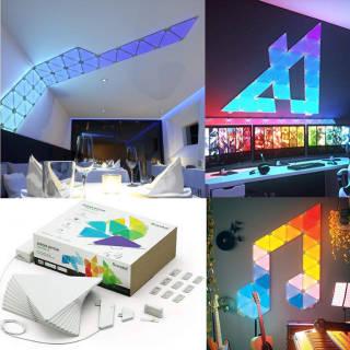 Luci - Nanoleaf Aurora Smarter Kit 9 Pannelli LED RGBW - con Modulo Aurora Rhythm   Asta online sicura e affidabile su Baazr