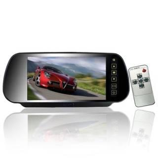 """Baazr - Monitor 7"""" Pollici Specchietto Auto Specchio Retrovisore Tasti Touch Screen Lcd"""