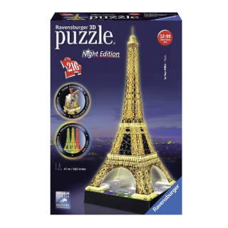 Puzzle 3D Eiffel Tower-Edizione Speciale Notte - Ravensburger Italy | Asta online sicura e affidabile su Baazr