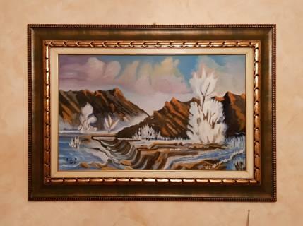 Baazr - Dipinto olio su tela Deserto Ghiacciato pezzo unico
