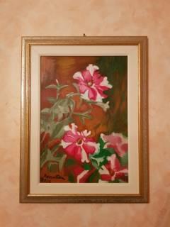 Baazr - Dipinto olio su tela Natura Floreale di Petunie