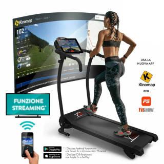 Tapis roulant elettrico YM da 750 Watt con sensore cardiaco e App (FitShow) | Asta online sicura e affidabile su Baazr