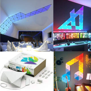 Luci - Nanoleaf Aurora Smarter Kit 9 Pannelli LED RGBW - con Modulo Aurora Rhythm | Asta online sicura e affidabile su Baazr