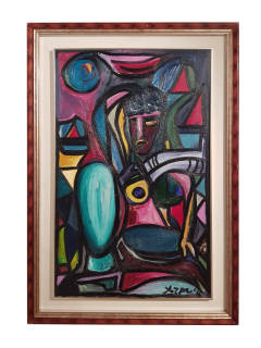 Baazr - ARPA - Donna del Mistero - Dipinto Olio su Tela