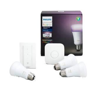 Philips - Starter Kit con 3 Lampadine E27 - 1 Bridge e 1 Telecomando Dimmer Switch | Asta online sicura e affidabile su Baazr