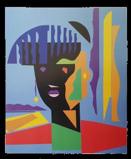 Baazr - CLAPS - Afra - Collage su Tela