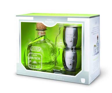 Patrón Tequila Silver - Limited Edition con Mule Mug - Confezione regalo | Asta online sicura e affidabile su Baazr