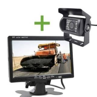 Baazr - Kit Retromarcia Wireless Monitor 7 Pollici + Telecamera 18 LED CAMPER Camion DS