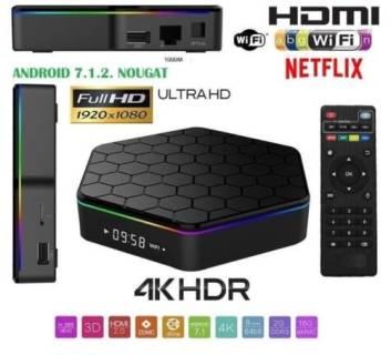 Baazr - Smart Q5 TV BOX Android 4K Ultra HD 3GB RAM 32GB ROM Smart TV Wi-Fi Andowl Q5
