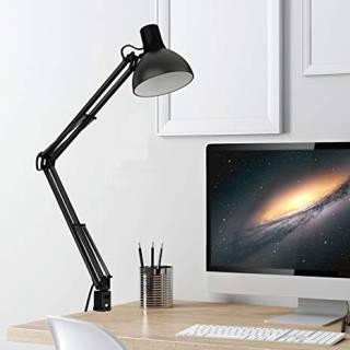 Baazr - Lampada da scrivania Luxury Desk  con Morsetto da scrivania Braccio 33x33