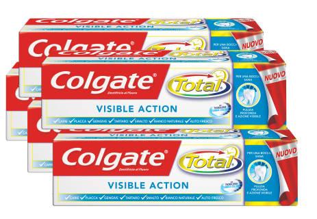 Baazr - Dentifricio Colgate Total Visible  Action 75 ml - 5 Pezzi