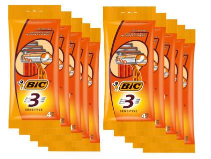 Baazr - Bic 3 Sensitive - 10 Confezioni - Rasoi - Lamette