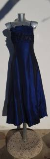 Baazr - Maxfutura - Abito da cerimonia in taffetà blu