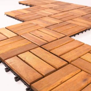 Vanage Piastrelle da Giardino in Legno Incastrabili per Pavimentazione Esterno e Interno | Asta online sicura e affidabile su Baazr