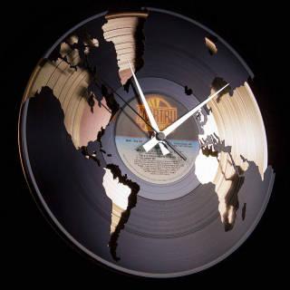 Baazr - Disc'O'Clock Orologio in Vinile World  Oro